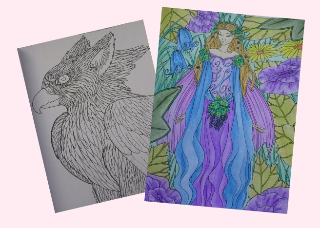 Fantasy Creatures Colouring Book pics